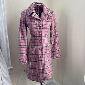 Vintage H&M Pink Plaid Coat